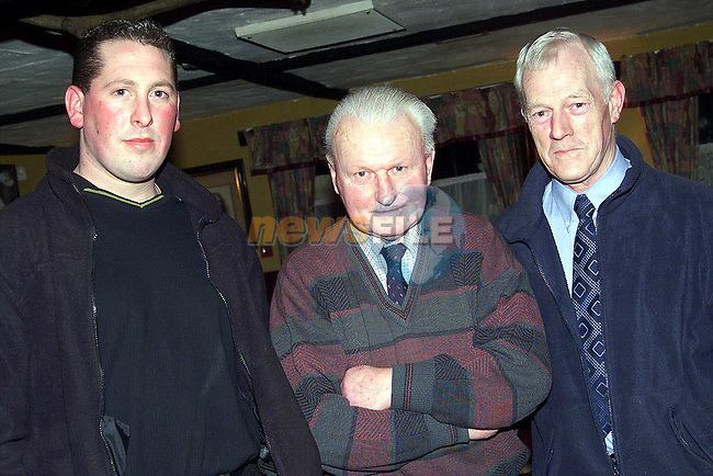 Mark Delaney, Jimmy Curran and Peter Russell at St. Patrick's GFC fundraising launch in the Julianstown Inn..Picture: Paul Mohan/Newsfile