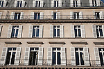Typical Facade in Paris, France, Europe