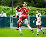 14 October 2010: University of Hartford Hawks defender Shealagh Begley, a Sophomore from West Hartford, CT, in action against the University of Vermont Catamounts at Centennial Field in Burlington, Vermont. The Hawks defeated the Lady Cats 6-2 in America East play. Mandatory Credit: Ed Wolfstein Photo