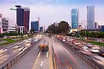 Lima, Peru, San Isidro Business District, Paseo de la Republica, Via Expresa, Metropolitan Bus Rapid Transit System, Rush Hour