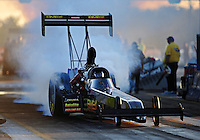 Sept. 23, 2011; Ennis, TX, USA: NHRA top fuel dragster driver Troy Buff during qualifying for the Fall Nationals at the Texas Motorplex. Mandatory Credit: Mark J. Rebilas-