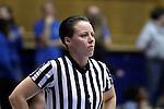 10 February 2017: Referee Gina Cross. The Duke University Blue Devils hosted the Syracuse University Orange at Cameron Indoor Stadium in Durham, North Carolina in a 2016-17 Division I Women's Basketball game. Duke won the game 72-55.