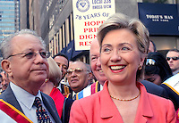 New York, NY - 6 Sept 03 -- New York Senator Hillary Clinton at the Labor Day Parade...© Stacy Walsh Rosenstock