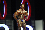 Melvin Anthony on stage at the finals for the 2009 Mr. Olympia competition in Las Vegas.