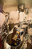 Memphis, Tennessee, February 2009. BB Kings Gibson guitar, Lucille. Smithsonian's Rock 'n Soul Museum is the place to get a grasp of the history of the blues, Rock 'n Roll, and soul music. The city of Memphis is the place where Blues and Soul Music grew famous. Photo by Frits Meyst/Adventure4ever.com