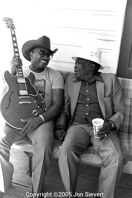 Otis Rush, John Lee Hooker.9/15/85.81-25-22A