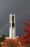 Rainbow over the Bell Tower.11/11/04..Photo by Steve Walters/BYU