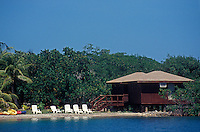 Guest cabin at Anthony's Key Resort on the Island of Roatan, Bay Islands, Honduras