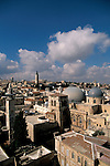 Israel, Jerusalem Old City, a view of the Church of the Holy Sepulchre from the bell tower of the Church of the Redeemer