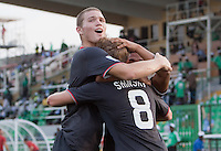 Alex Shinsky celebrates with Eriq Zavaleta.. US Men's National Team Under 17 defeated Malawi 1-0 in the second game of the FIFA 2009 Under-17 World Cup at Sani Abacha Stadium in Kano, Nigeria on October 29, 2009.