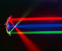 PARABOLIC OR CONCAVE MIRROR FOCUSES LIGHT BEAMS<br />