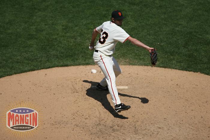 Jonathan Sanchez. Baseball: Oakland Athletics vs San Francisco Giants at AT&T Park in San Francisco, CA on June 24, 2006. Photo by Brad Mangin
