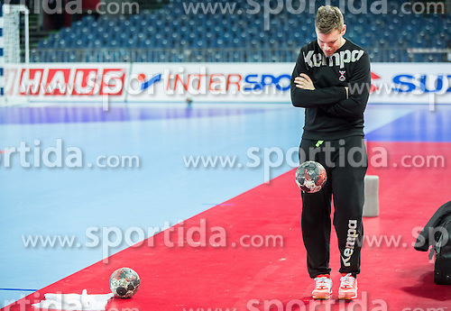 Zan Rant Roos, physiotherapist during practice session of Team Slovenia on Day 1 of Men's EHF EURO 2016, on January 15, 2016 in Centennial Hall, Wroclaw, Poland. Photo by Vid Ponikvar / Sportida