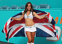 Miami Dolphins Cheerleader Holly Warden from Great Britain Makes her home Debut  on the 25th September 2016 at  the Hard Rock Stadium Miami Florida<br /> --------------------<br /> BPI<br /> American Football - NFL 2016/17<br /> Week Three<br /> Miami Dolphins v Cleveland Browns<br /> <br /> 25 September 2016<br /> &Acirc;&copy;2016 BPI all rights reserved
