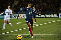 Lorient, France. - Sunday, February 8, 2015:  Wendie Renard (2) of France. France defeated the USWNT 2-0 during an international friendly at the Stade du Moustoir.