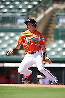 Baltimore Orioles Austin Hays (55) during an Instructional League game against the Boston Red Sox on September 22, 2016 at the Ed Smith Stadium in Sarasota, Florida.  (Mike Janes/Four Seam Images)