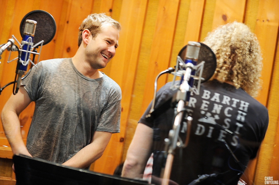 Photos from the cast recording of Memphis The Musical at Avatar Studios in New York City. November 16, 2009.