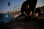 Suffering from health problems, Parker Stanphill lives on the streets of Fresno, Calif., September 20, 2012.