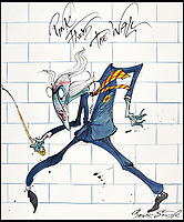 BNPS.co.uk (01202 558833)<br /> Pic: Sothebys/BNPS<br /> <br /> 'The Teacher' - Pink Floyd.<br /> <br /> A collection of more than 130 drawings by one of Britain's most celebrated cartoonists has emerged for auction and are tipped to sell for &pound;850,000.<br /> <br /> The collection of Gerald Scarfe - who has worked as a cartoonist for the Sunday Times for 44 years - includes satirical portraits of leading political figures from Winston Churchill to Theresa May, as well as examples of his work on Disney film Hercules and Pink Floyd's animation film The Wall.<br /> <br /> While many of the drawings included in the auction have been published, a number of works included in the sale are unseen.<br /> <br /> Those who have been immortalised in his cartoons include Donald Trump, Barack Obama, George Bush, David Cameron, Tony Blair, Margaret Thatcher, Boris Johnson, Nigel Farage, George Osborne and Jeremy Corbyn.