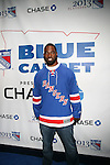 New York Giants' Justin Tuck Attends NEW YORK Rangers ROLL OUT THE &ldquo;BLUE CARPET PRESENTED by Chase&rdquo; <br /> FOR GAME THREE AGAINST WASHINGTON at Madison Square Garden, NY