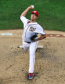 Washington Nationals pitcher Chien-Ming Wang (40) pitches in the second inning against the New York Mets at Nationals Park in Washington, D.C. on Friday, July 29, 2011.  Wang is a former New York Yankee pitcher who was injured exactly 2 years ago..Credit: Ron Sachs / CNP.(RESTRICTION: NO New York or New Jersey Newspapers or newspapers within a 75 mile radius of New York City)