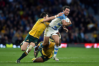 Marcelo Bosch of Argentina takes on the Australia defence. Rugby World Cup Semi Final between Argentina v Australia on October 25, 2015 at Twickenham Stadium in London, England. Photo by: Patrick Khachfe / Onside Images