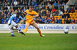 St Johnstone v Motherwell.....19.05.13      SPL.Nigel Hasselbaink scores saints second goal.Picture by Graeme Hart..Copyright Perthshire Picture Agency.Tel: 01738 623350  Mobile: 07990 594431