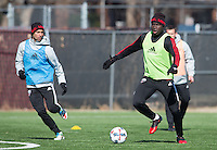 Washington, D.C. - Monday February 13, 2017: D.C. United train ahead of their 2017 MLS season at D.C. United practice facility at RFK Stadium.