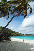 Alexa Putnam at Trunk Bay Beach<br />