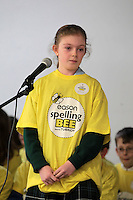 NO FEE PICTURES.8/3/12 Rosie Kinehan Sheehy, Rathdown Junior, Glenageary, taking part in the Dublin County final, part of the overall Eason 2012 Spelling Bee, held at St Olaf's NS, Dundrum. .For further details visit www.easons.com/spellingbee and stay tuned to RTE 2fm. Picture:Arthur Carron/Collins