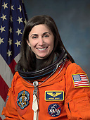 "Houston, TX - (FILE) -- Photo dated April 21, 2009 of Astronaut Nicole Stott, mission specialist/flight engineer, STS-128. Commander Rick Sturckow will lead the STS-128 mission to the International Space Station aboard space shuttle Discovery with Kevin Ford serving as pilot.  It is scheduled for launch on August 25, 2009.  Also serving aboard Discovery are mission specialists Patrick Forrester, José Hernández, John ""Danny"" Olivas, Christer Fuglesang and Nicole Stott. .Stott will remain on the station as an Expedition 20 flight engineer replacing Timothy Kopra. Kopra will return home aboard Discovery as a mission specialist.  Discovery is carrying the Leonardo Multi-Purpose Logistics Module containing life support racks and science racks. The Lightweight Multi-Purpose Experiment Support Structure Carrier will also be launched in Discovery's payload bay.  This is Discovery's 37th mission to space and the 30th mission of a space shuttle dedicated to the assembly and maintenance of the International Space Station. .Credit: NASA via CNP"