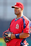 14 March 2007: St. Louis Cardinals first baseman Albert Pujols warms up prior to facing the Washington Nationals at Roger Dean Stadium in Jupiter, Florida...Mandatory Photo Credit: Ed Wolfstein Photo