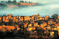 Overview of city, Kathmandu, Nepal. Himalayas. Mist. Cityscape. Kathmandu, Nepal Asia.