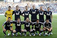 Vancouver Whitecaps starting XI... Sporting KC defeated Vancouver Whitecaps 2-1 at LIVESTRONG Sporting Park, Kansas City, Kanas.
