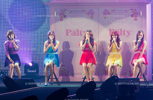 "March 3, 2012, Yokohama, Japan - Korean pop group ""KARA"" performs during a special live at the Tokyo Girls Collection fashion show. The theme of this 14th Tokyo Girls Collection is ""Sherbet Garden."" (Photo by Christopher Jue/Nippon News)"