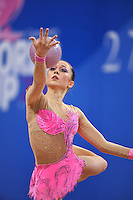 Silviya Miteva of Bulgaria performs with ball at 2010 Pesaro World Cup on August 28, 2010 at Pesaro, Italy.  Photo by Tom Theobald.