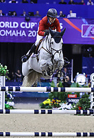 OMAHA, NEBRASKA - APR 2: Laura Kraut rides Zeremonie during the Longines FEI World Cup Jumping Final at the CenturyLink Center on April 2, 2017 in Omaha, Nebraska. (Photo by Taylor Pence/Eclipse Sportswire/Getty Images)