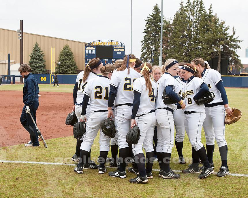 University of Michigan softball 13-1 victory over Purdue University in 5 innings at Alumni Field in Ann Arbor, MI, on April 9, 2011.