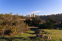 The Valley of the Cross near downtown Jerusalem is the site of the Greek Orthodox Monastery of the Cross as well as of ornamental gardens and olive groves.