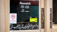 Nando's Restaurant Entrance and Sign - May 2014.