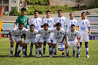 El Salvador lines up during the group stage of the CONCACAF Men's Under 17 Championship at Jarrett Park in Montego Bay, Jamaica. Costa Rica defeated El Salvador, 3-2.