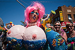 Revellers take part in the mermaid parade 2012 at Coney Island  in New York. June 23, 2012. Photo by Eduardo Munoz Alvarez / VIEW..