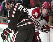 Jake Goldberg (Brown - 7), Jimmy Vesey (Harvard - 19) - The visiting Brown University Bears defeated the Harvard University Crimson 2-0 on Saturday, February 22, 2014 at the Bright-Landry Hockey Center in Cambridge, Massachusetts.