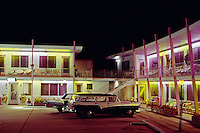 Bonito Motel Wildwood,NJ. 1950's Night Exterior with old cars.