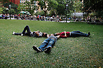_DSC0169, New York, New York, USA, 2010, USA-10752. Three men rest in Washington Square Park.