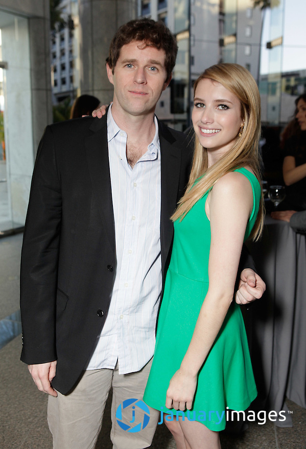 "BEVERLY HILLS, CA - JUNE 06:  Director Gavin Wiesen and Emma Roberts attend a Fox Searchlight screening Of ""The Art Of Getting By"" at Clarity Theater on June 6, 2011 in Beverly Hills, California.  (Photo by Todd Williamson/WireImage)"