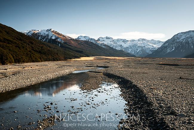 Waimakariri River near Arthur's Pass, Arthur's Pass National Park, Canterbury, New Zealand
