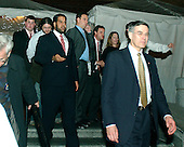 "Washington, D.C. - January 4, 2007 -- Attendees depart the ""Swearing-in Celebration Concert"" at the National Building Museum in Washington, D.C. on Thursday, January 4, 2007..Credit: Ron Sachs / CNP"