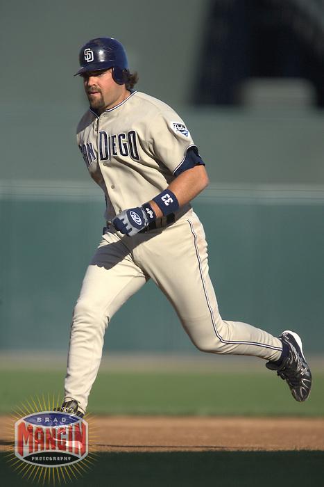 Mike Piazza. Baseball: San Diego Padres vs San Francisco Giants at AT&T Park in San Francisco, CA on September 10, 2006. Photo by Brad Mangin
