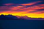 Brilliant sunrises are often seen by commercial fishermen along the Copper River Delta on the North Gulf Coast of Alaska, this one especially so.
